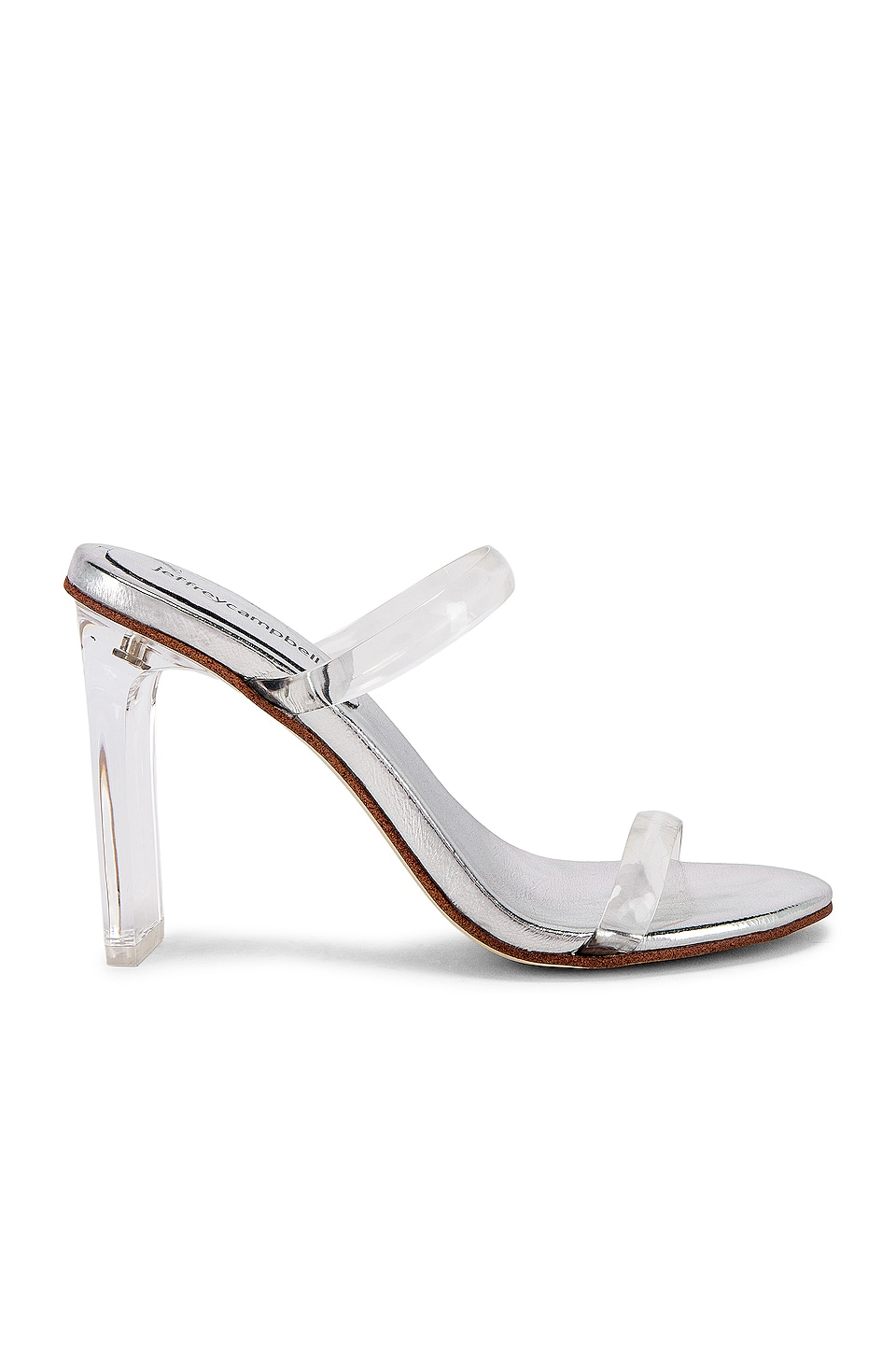 Jeffrey Campbell Serum Heel in Clear & Silver