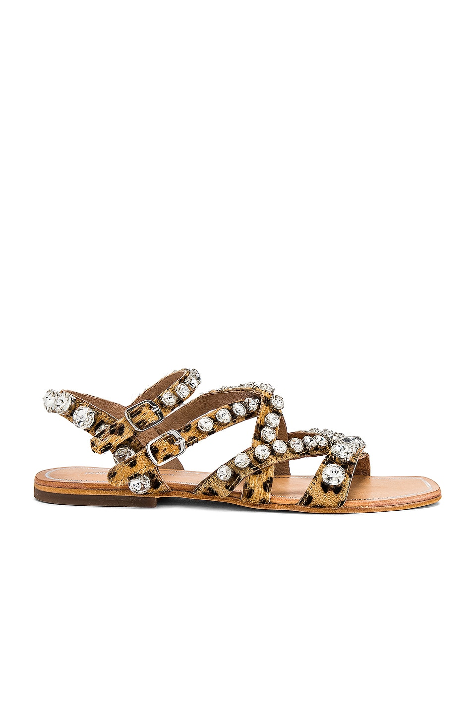 Jeffrey Campbell Calath Sandal in Tan Cheetah