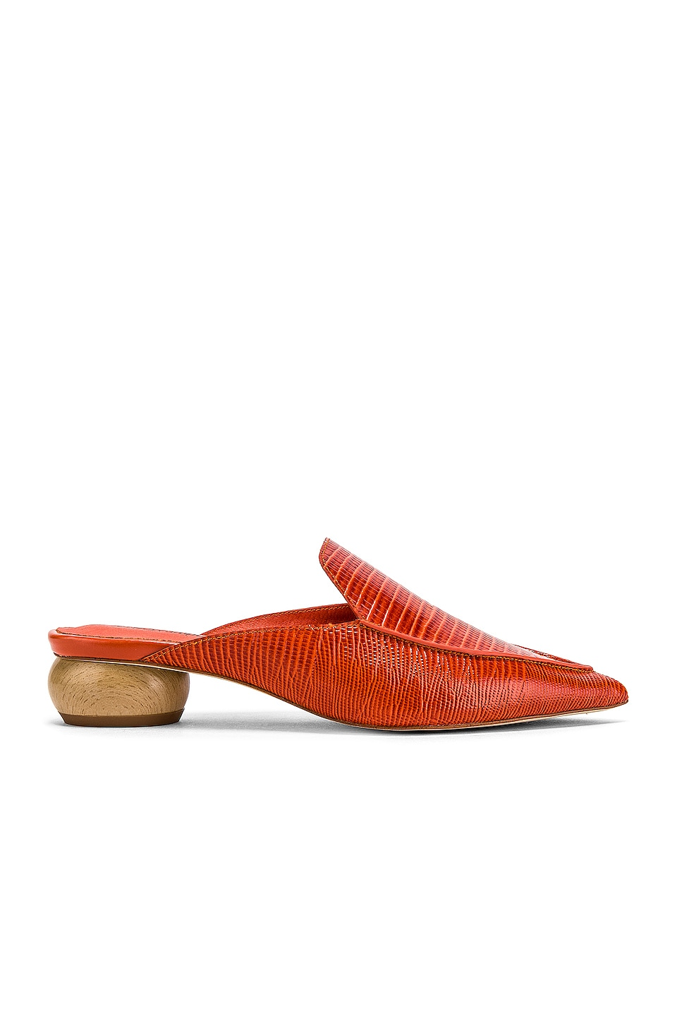 Jeffrey Campbell Vionit Mule in Orange Lizard