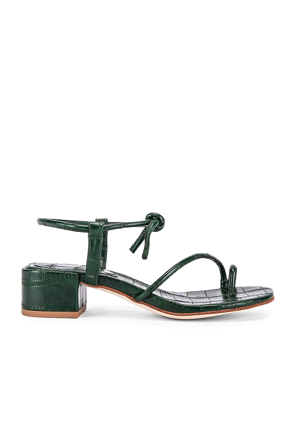 Jeffrey Campbell Zella Sandal in Green Croc