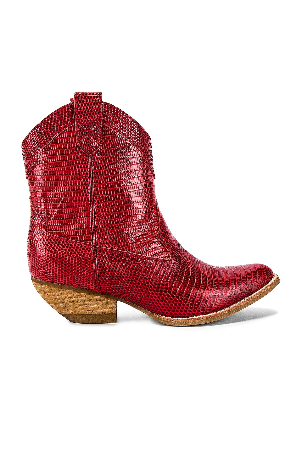 Jeffrey Campbell Calvera Bootie in Red Lizard