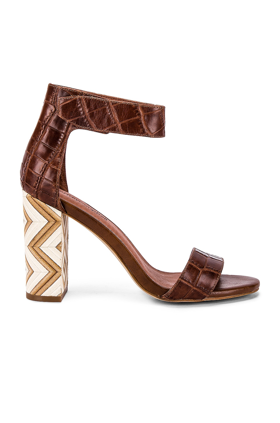 Jeffrey Campbell Lindsay Sandal in Brown Croc & Zig Zag