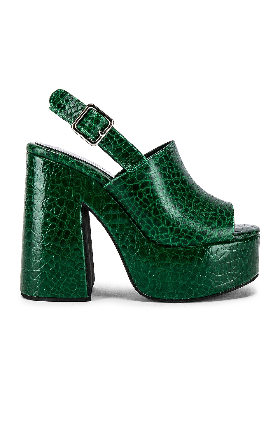 Jeffrey Campbell Mattix Platform in Green Gator