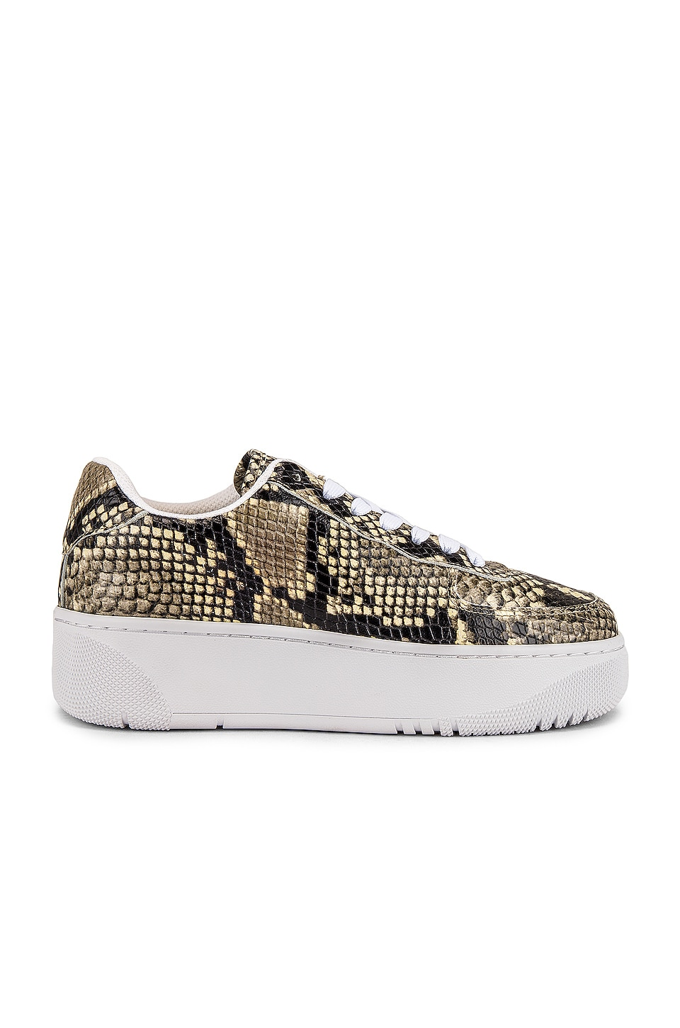 Jeffrey Campbell Court Sneaker in Brown Snake