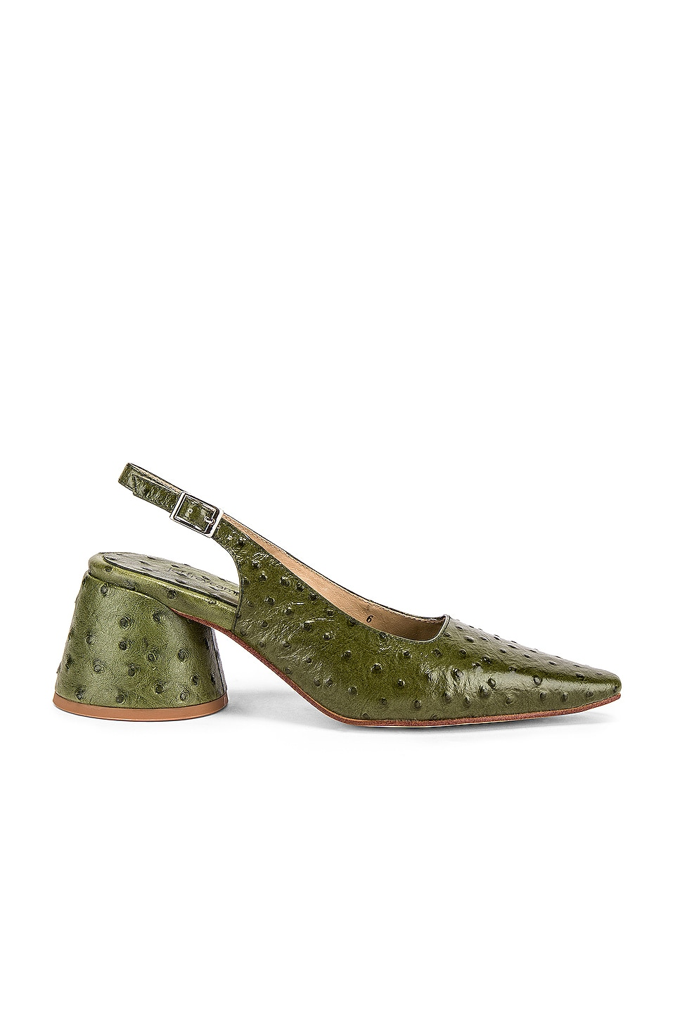 Jeffrey Campbell Ferra Pump in Green Ostrich