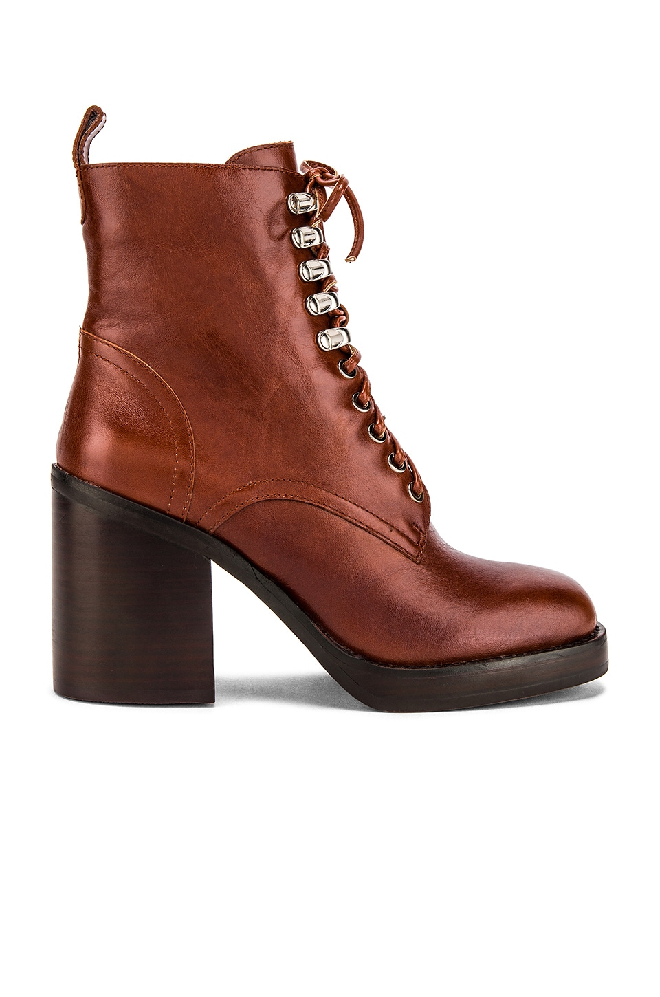 Jeffrey Campbell Dotti Bootie in Tan Dark Brown