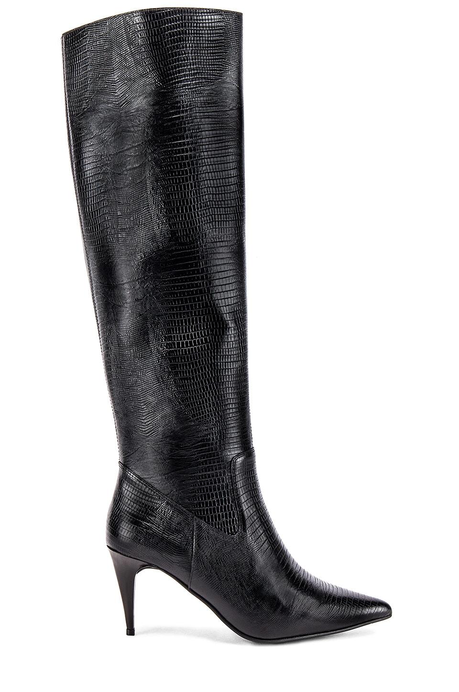 Jeffrey Campbell Parallel Boot in Black Lizard