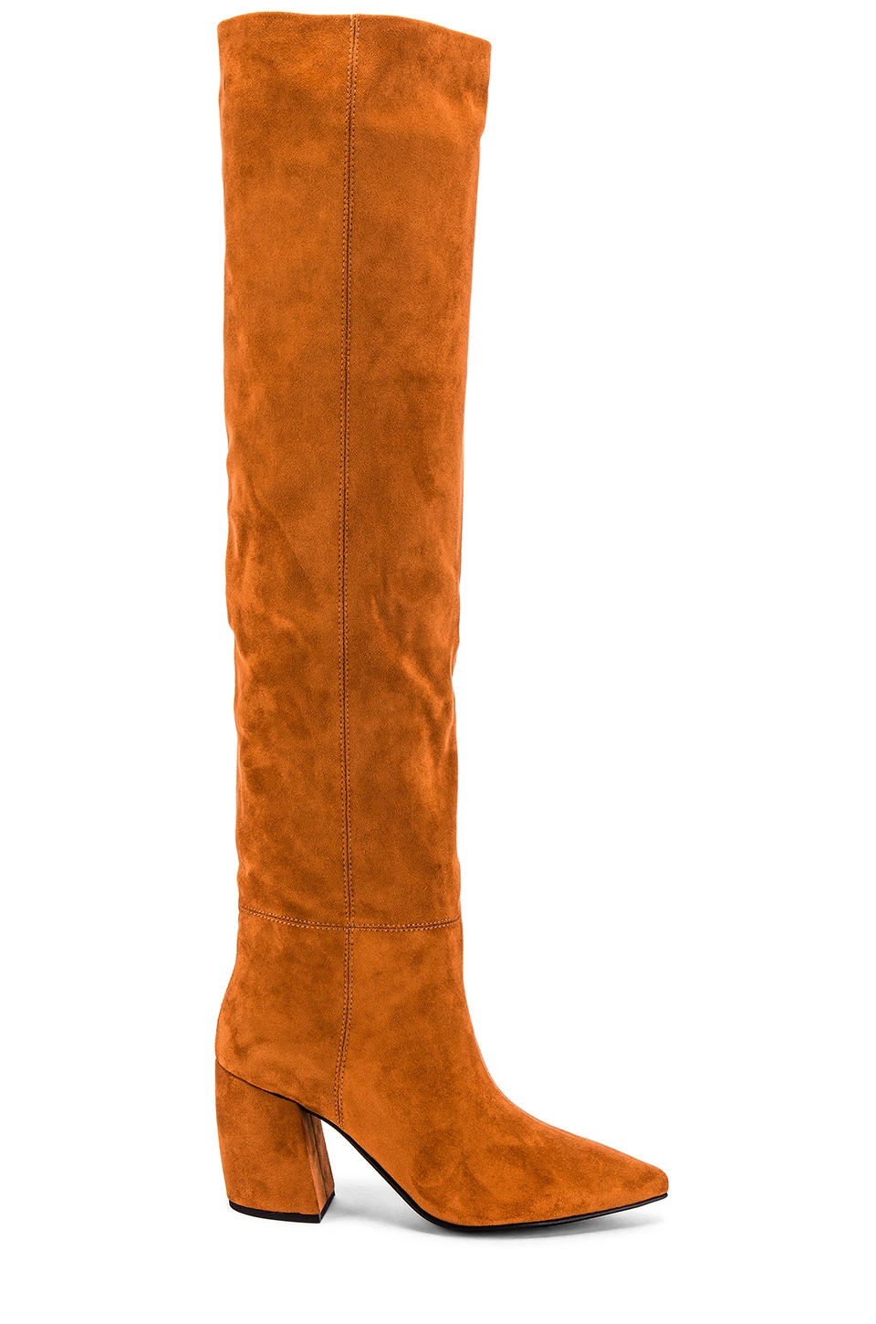 Jeffrey Campbell Final Slouch Boot in Tan Suede