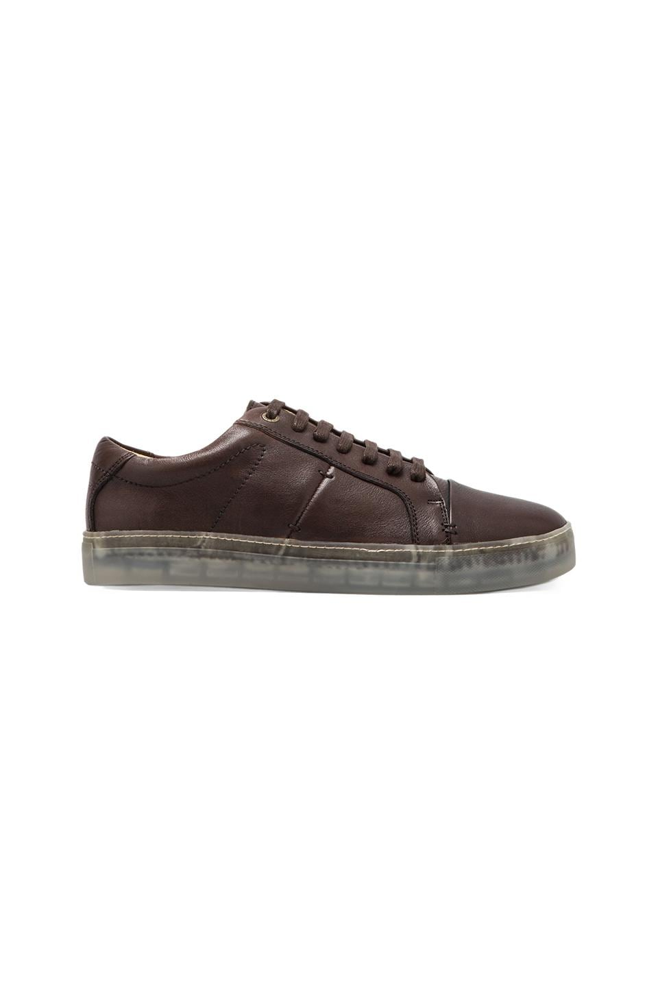J.D. FISK Cadet Sneaker in Dark Brown