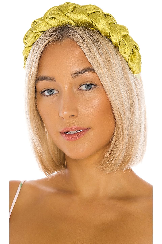 Jennifer Behr Lorelei Headband in Chartreuse