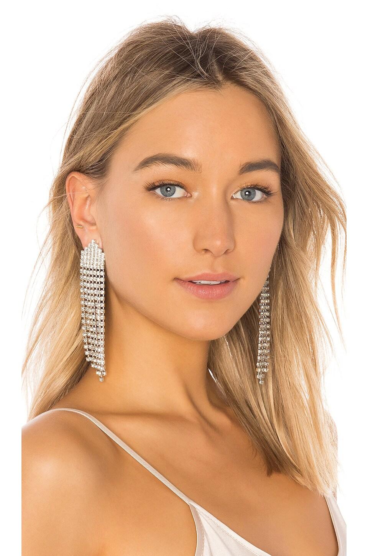 Jennifer Behr Diamante Earrings in Crystal
