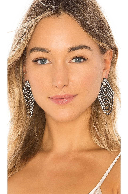 Jennifer Behr Seraphina Earrings in Crystal Gunmetal