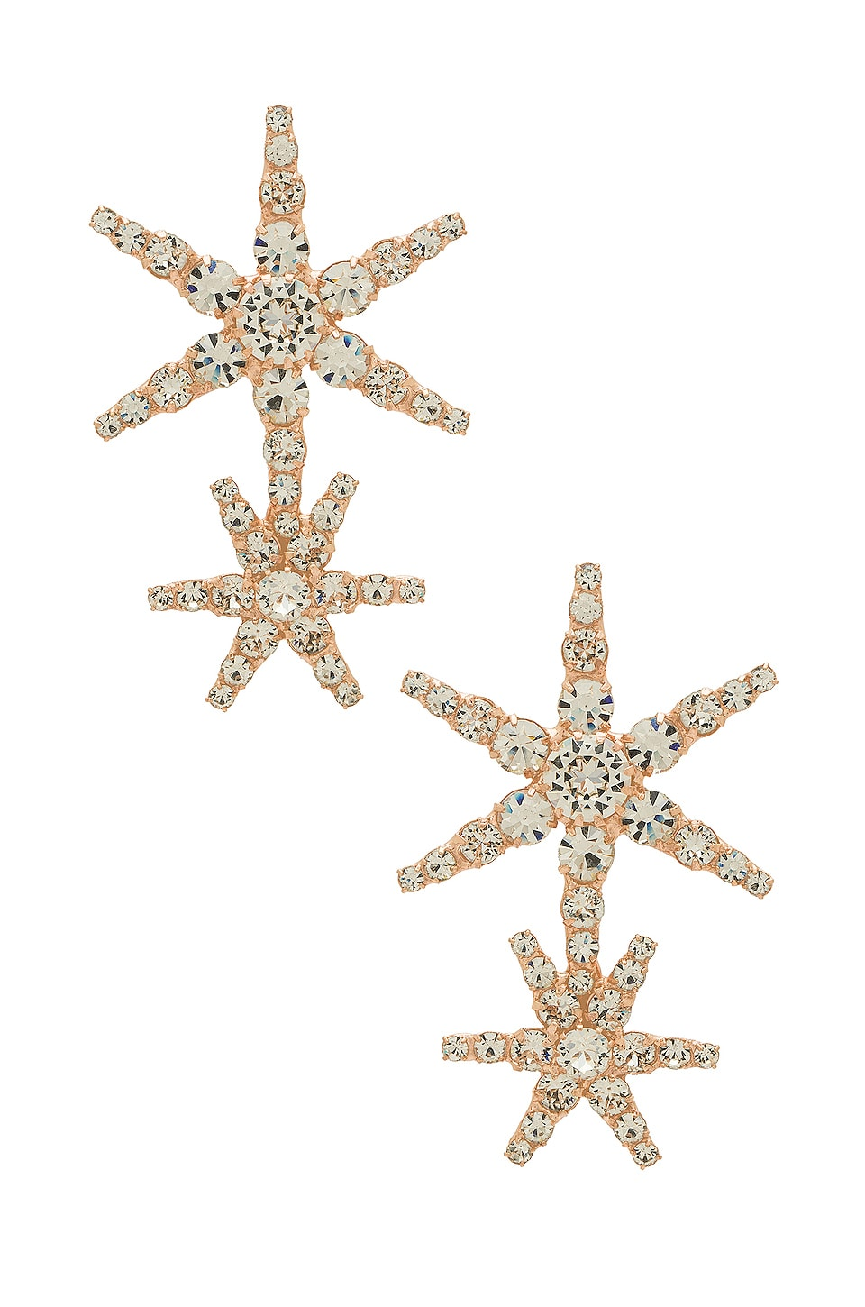 Jennifer Behr Estrella Earrings in Rose Gold