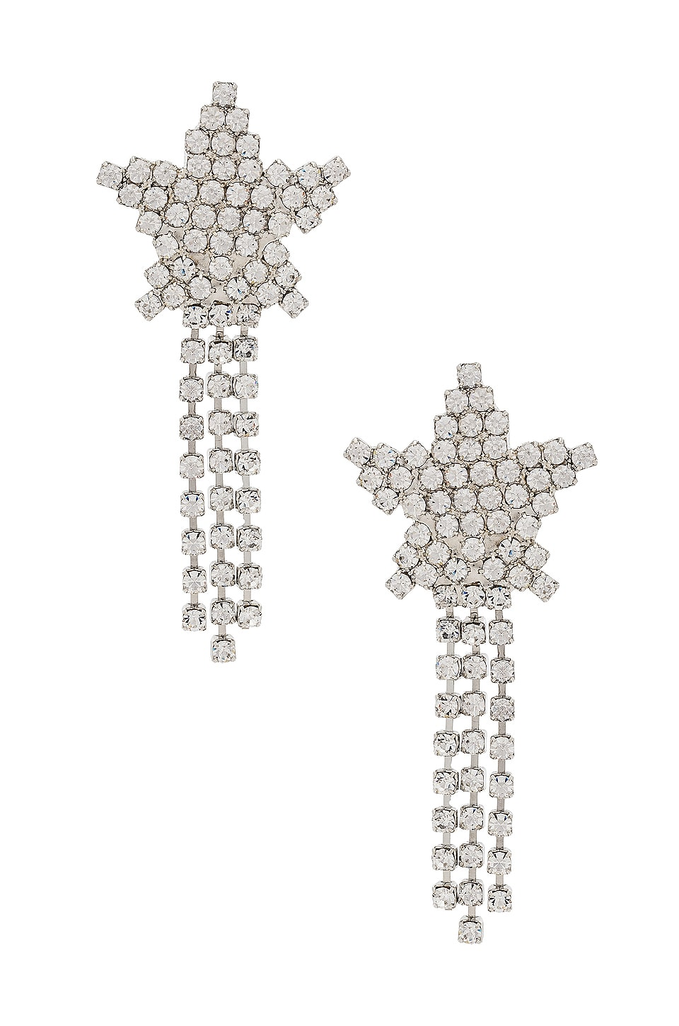 Jennifer Behr Shooting Star Earrings in Crystal