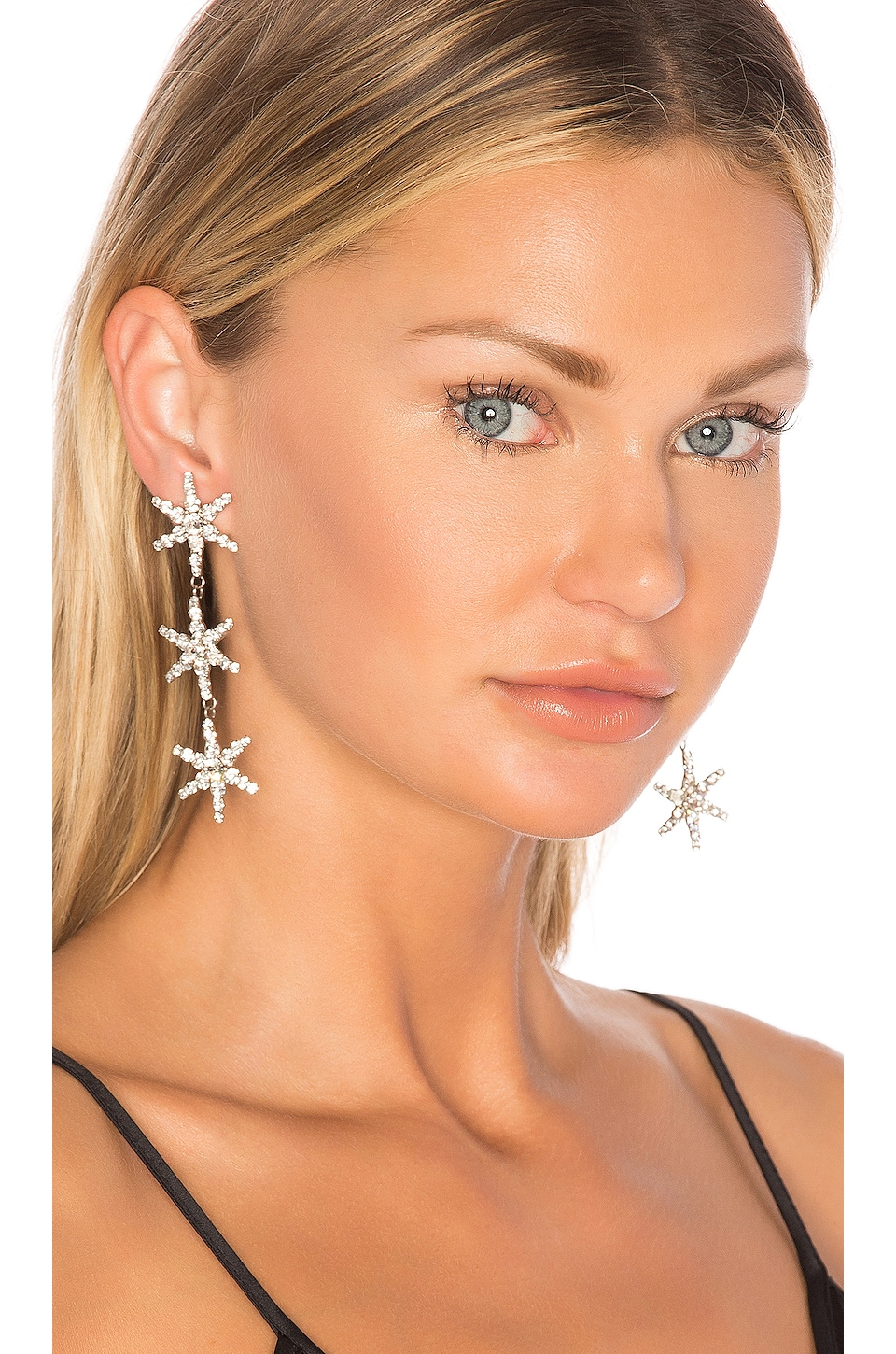 Jennifer Behr Aurora Earrings in Crystal