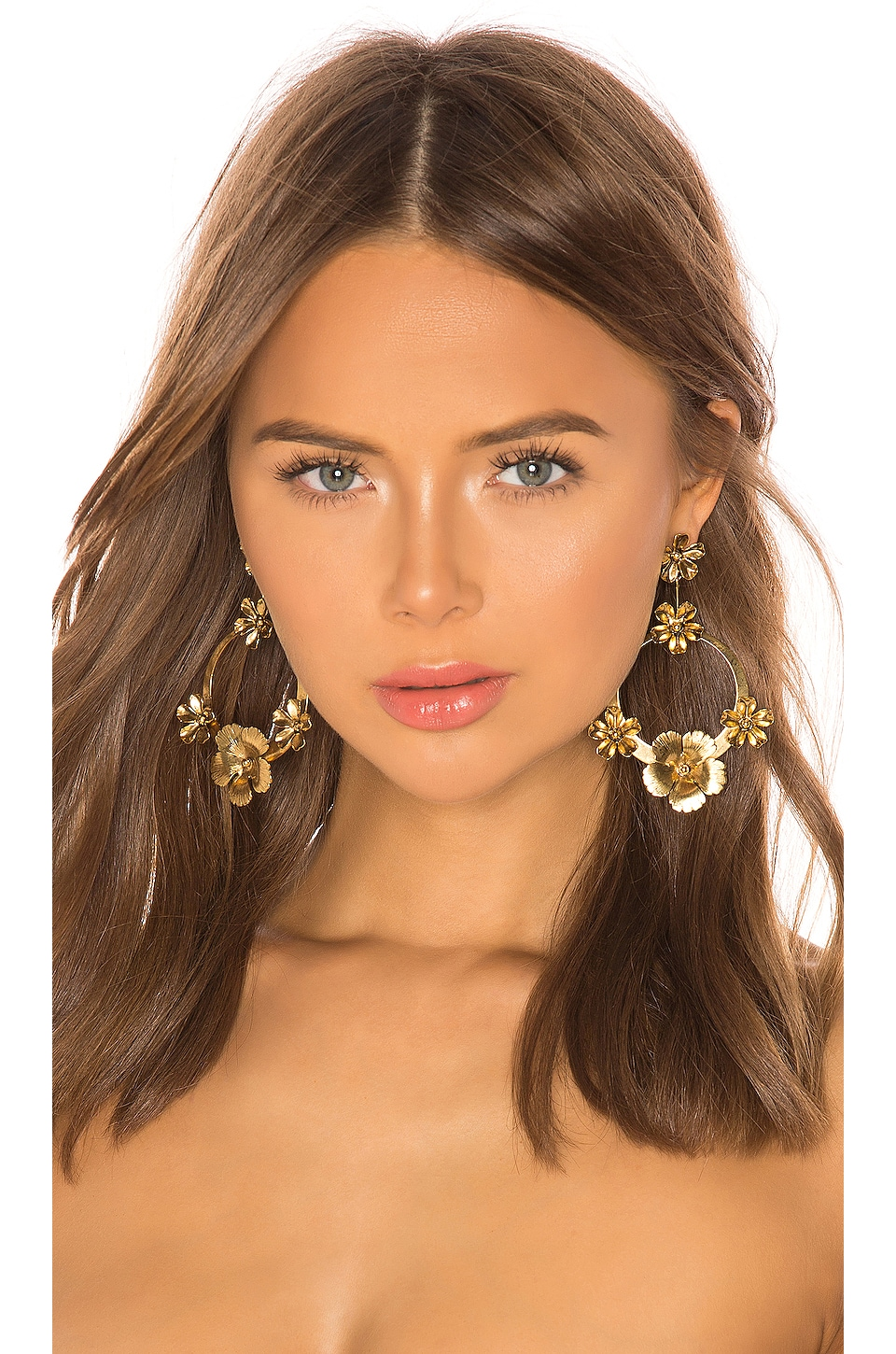 Jennifer Behr Freya Hoop Earrings in Gold