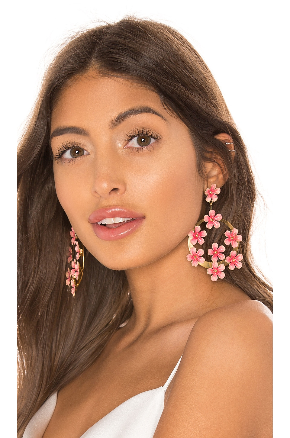 Jennifer Behr Marguerite Earrings in Wild Rose