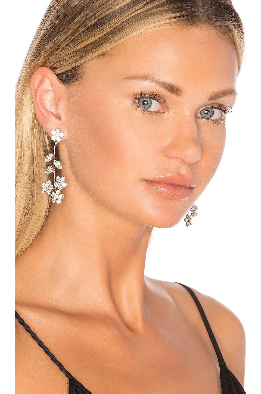 Jennifer Behr Violet Dangle Earrings in Crystal