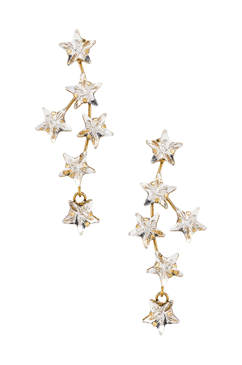 Jennifer Behr Nova Earring in Crystal Antique Gold