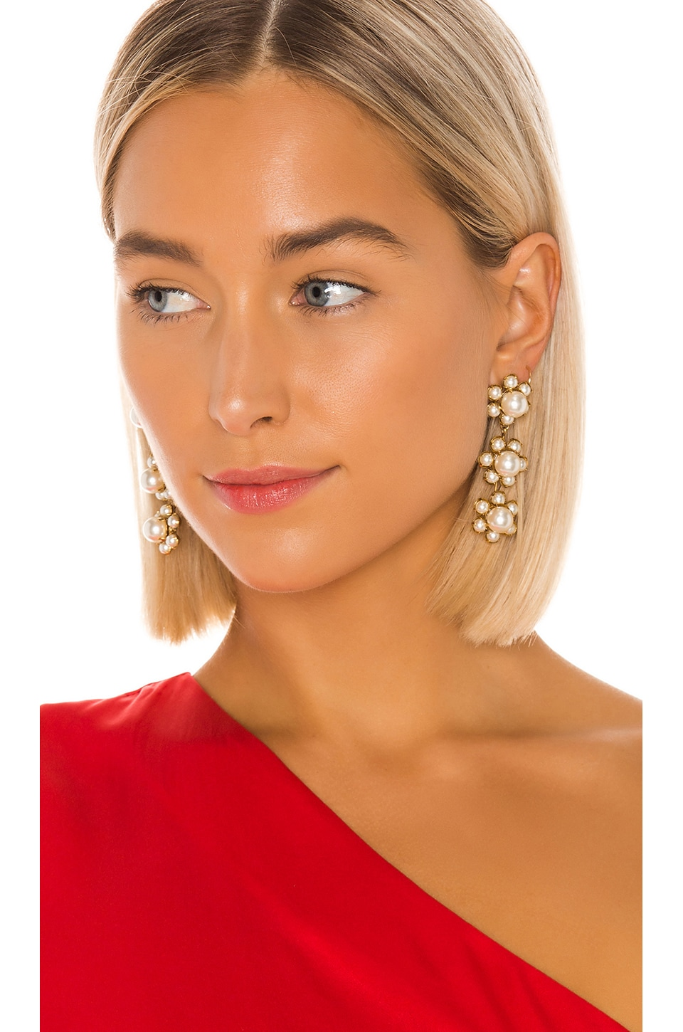 Jennifer Behr Constance Dangle Earring in Pearl