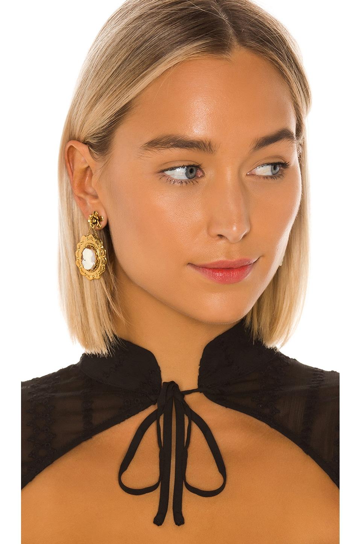 Jennifer Behr Fiorella Earring in Coral