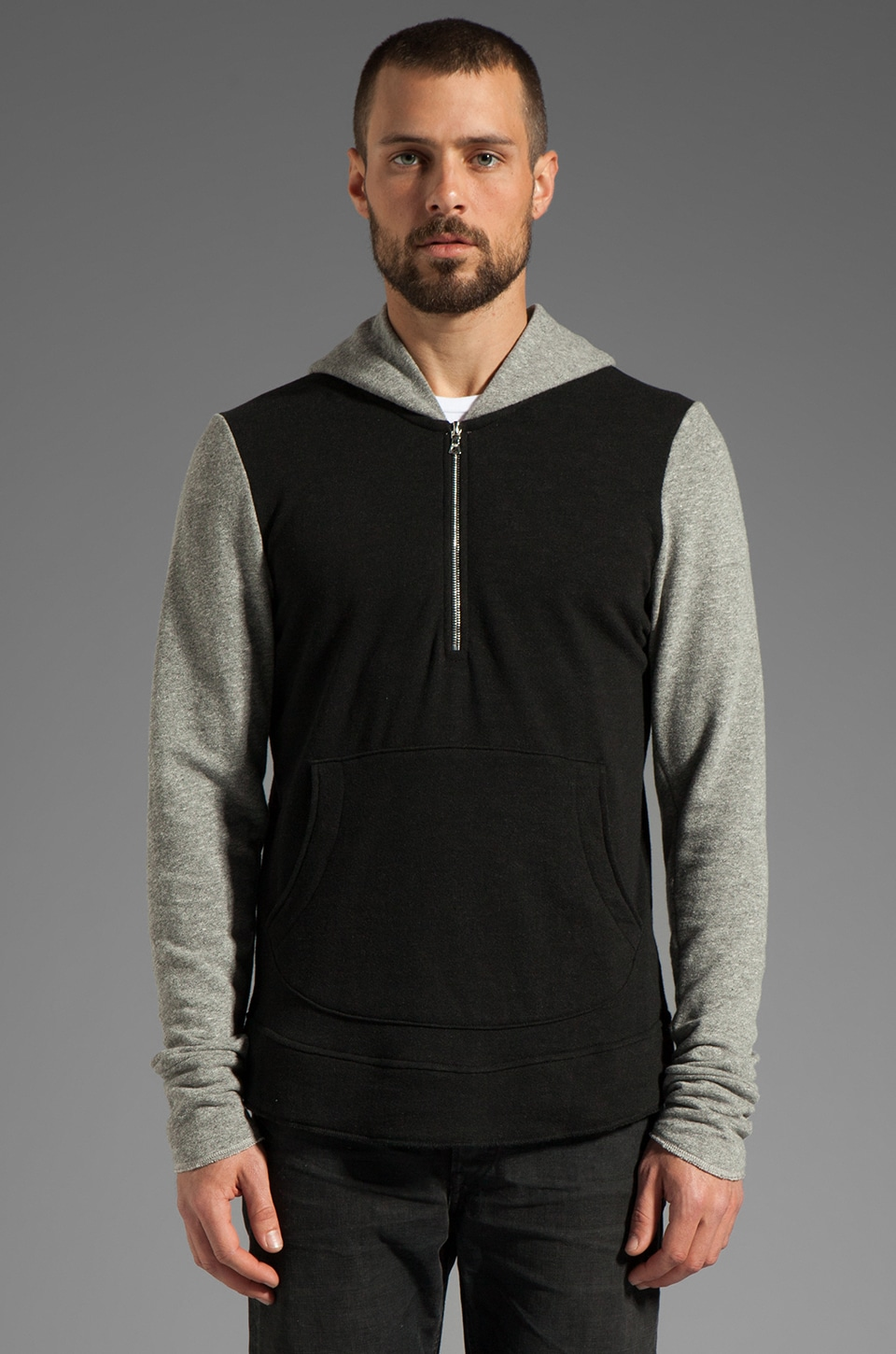 JOHN ELLIOTT Riga Half Zip-Hood in Duo 2