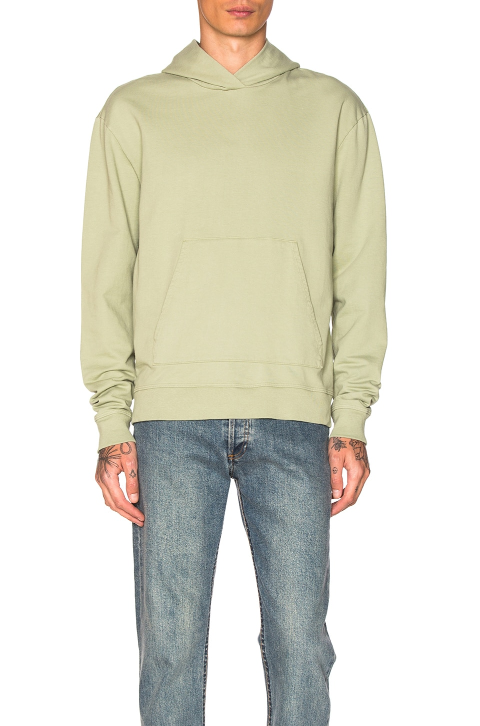 Oversized Cropped Hoodie by JOHN ELLIOTT