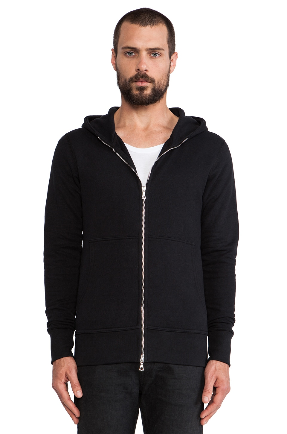 JOHN ELLIOTT Flash Full Zip Hoodie in Black