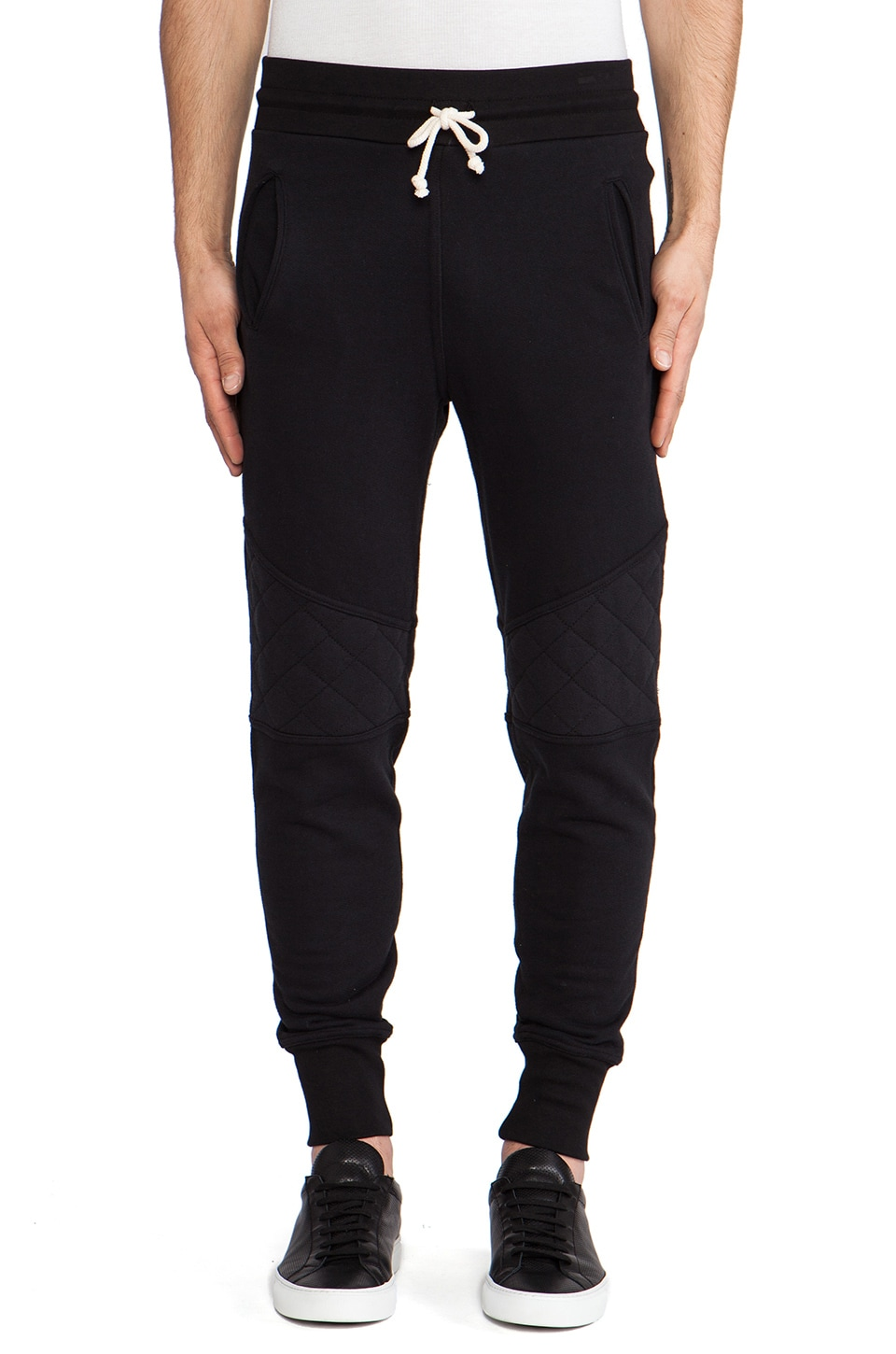 JOHN ELLIOTT Quilted Escobar Sweatpant in Black