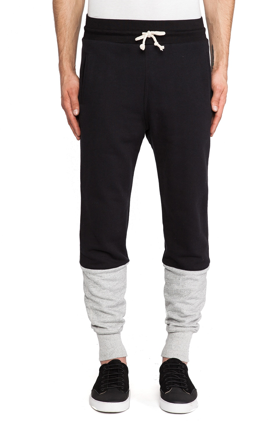 JOHN ELLIOTT Lima Sweatpant in Duo Black