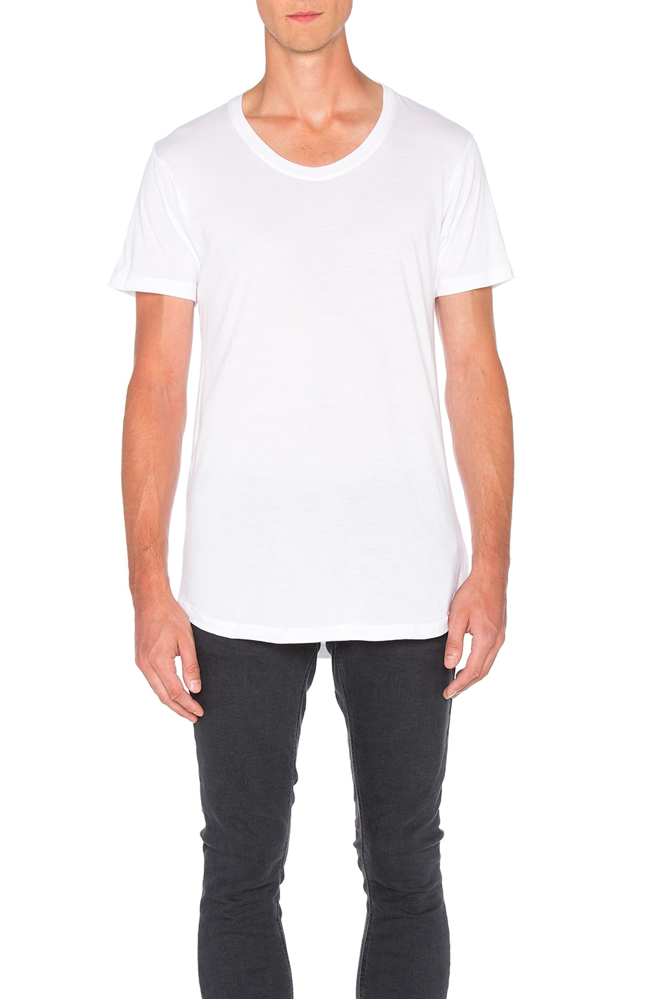 JOHN ELLIOTT Curve U-Neck in White