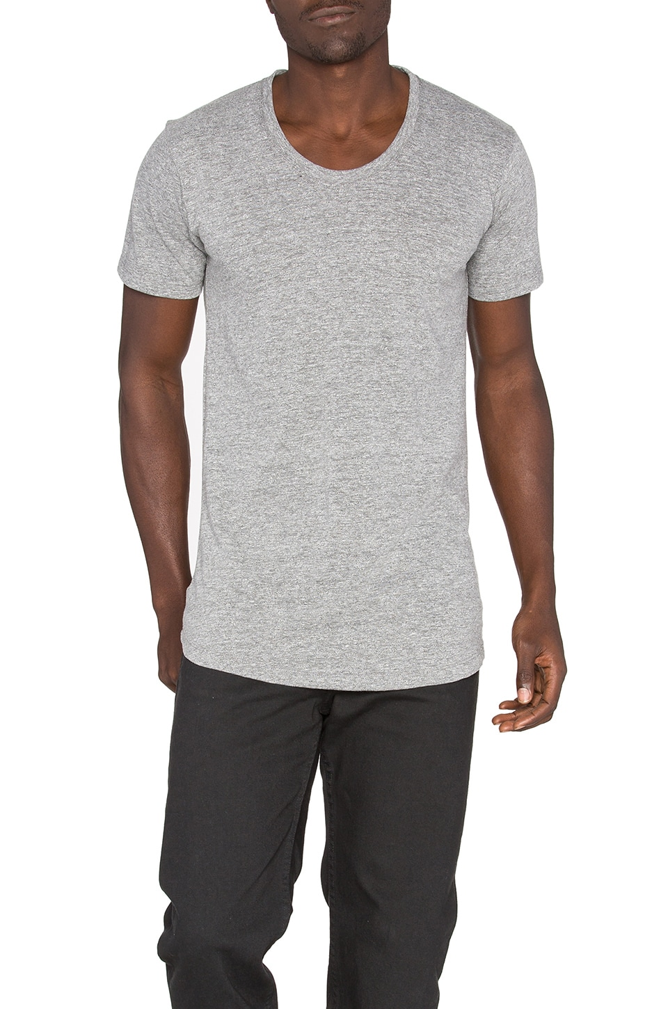 JOHN ELLIOTT Curve U-Neck in Grey