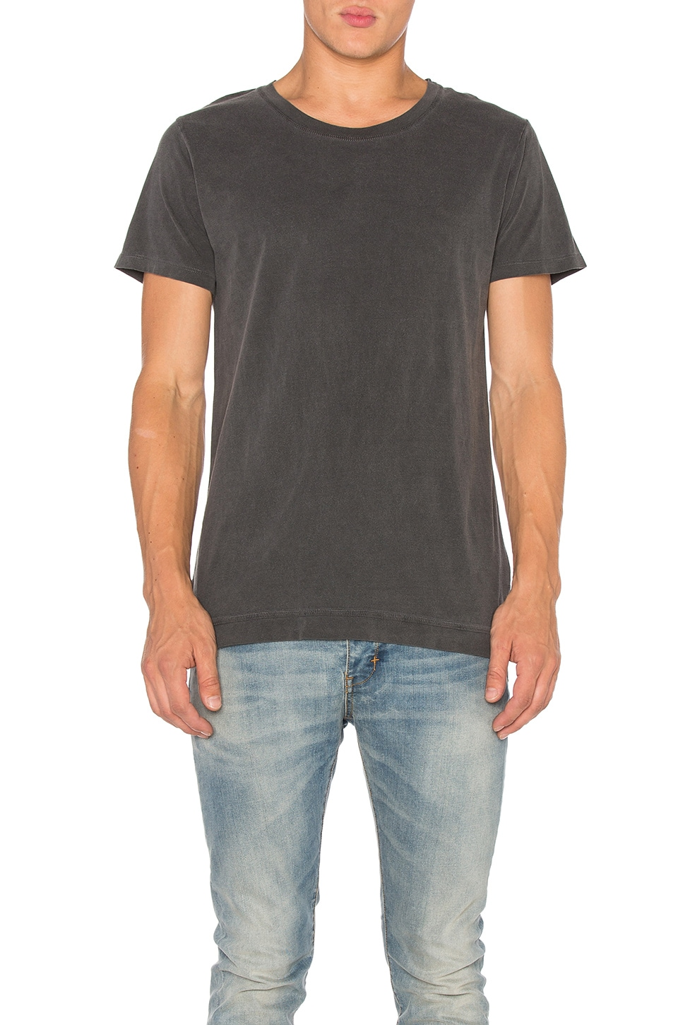 JOHN ELLIOTT Washed Mercer Tee en Washed Black