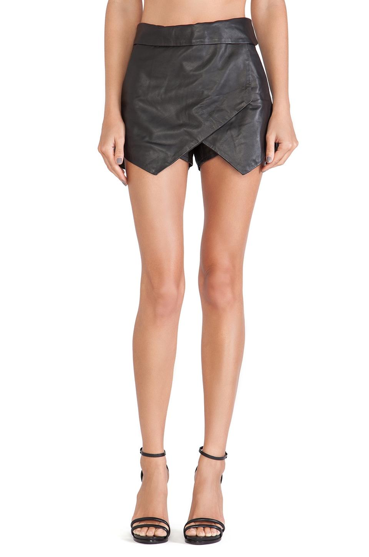 Jennifer Kate Leather Envelope Skirt in Black   REVOLVE