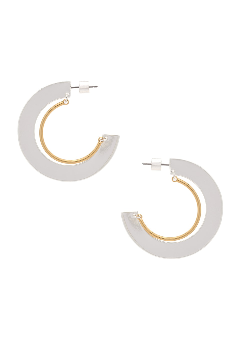 Jenny Bird Uma Hoops in Silver & Gold