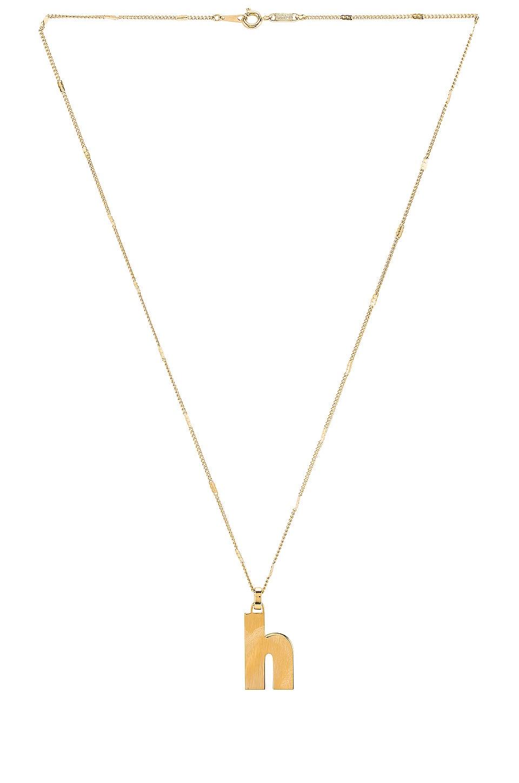 Jenny Bird Modernist Monogram Pendant H in Gold