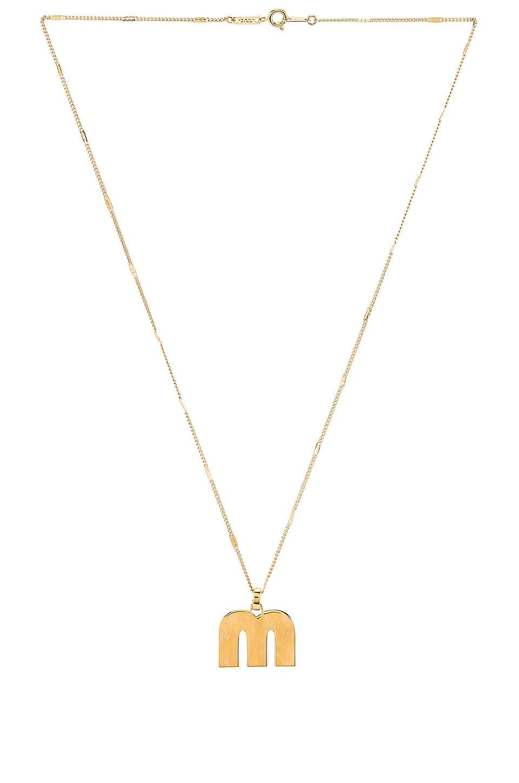 Jenny Bird Modernist Monogram Pendant M in Gold