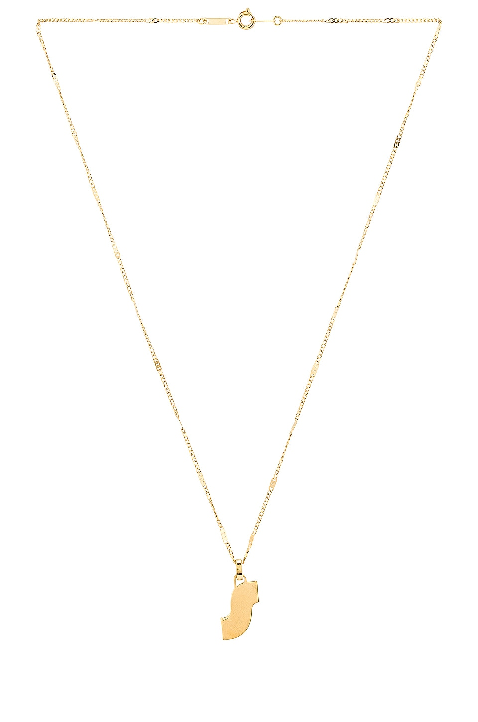 Jenny Bird Modernist Monogram Pendant S in Gold