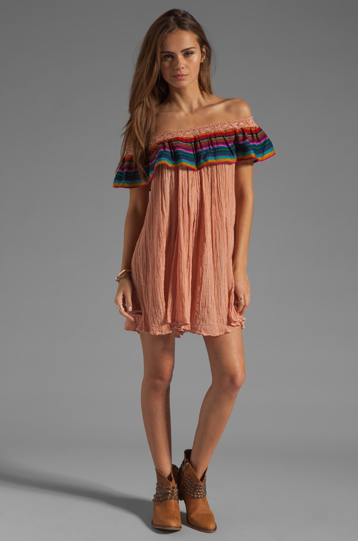 Jen's Pirate Booty T&B Senorita Dress in Clay/Colorful Stripe