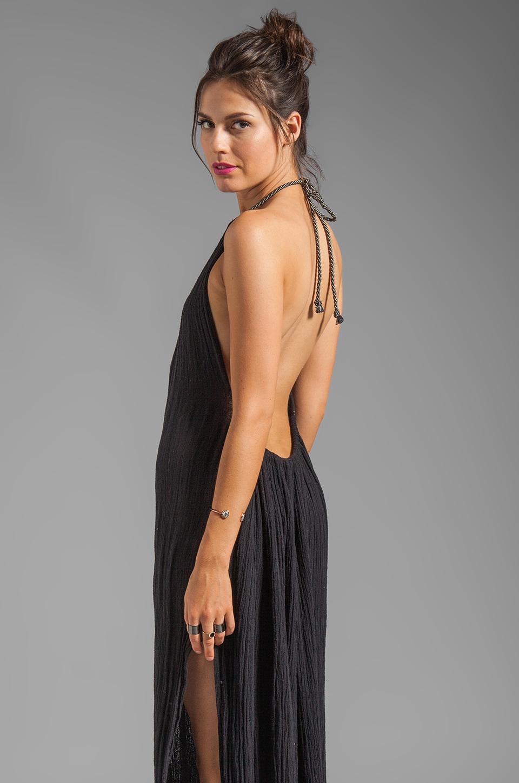 Jen's Pirate Booty Grecian Margarita Dress in Grey Black with Silver Edge dye