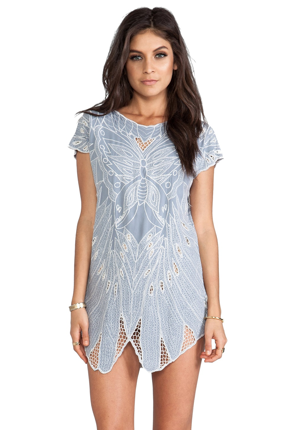 Jen's Pirate Booty Butterfly Mini Dress in Silver/Natural