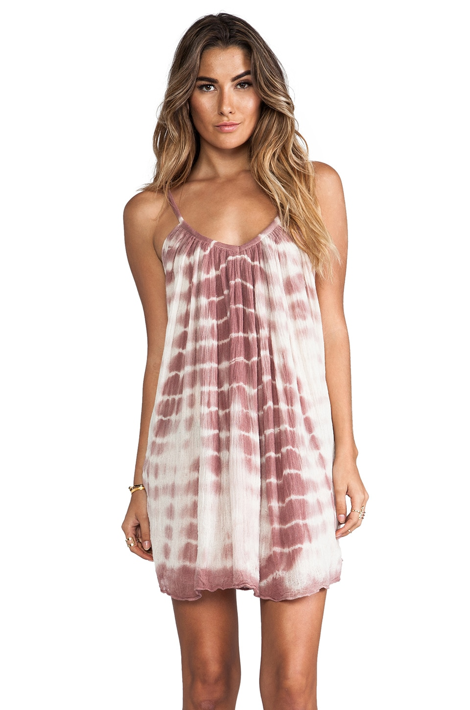 Jen's Pirate Booty Nuevo Tinkerbell Tie Dye Mini Dress in Natural & Amethyst LTD
