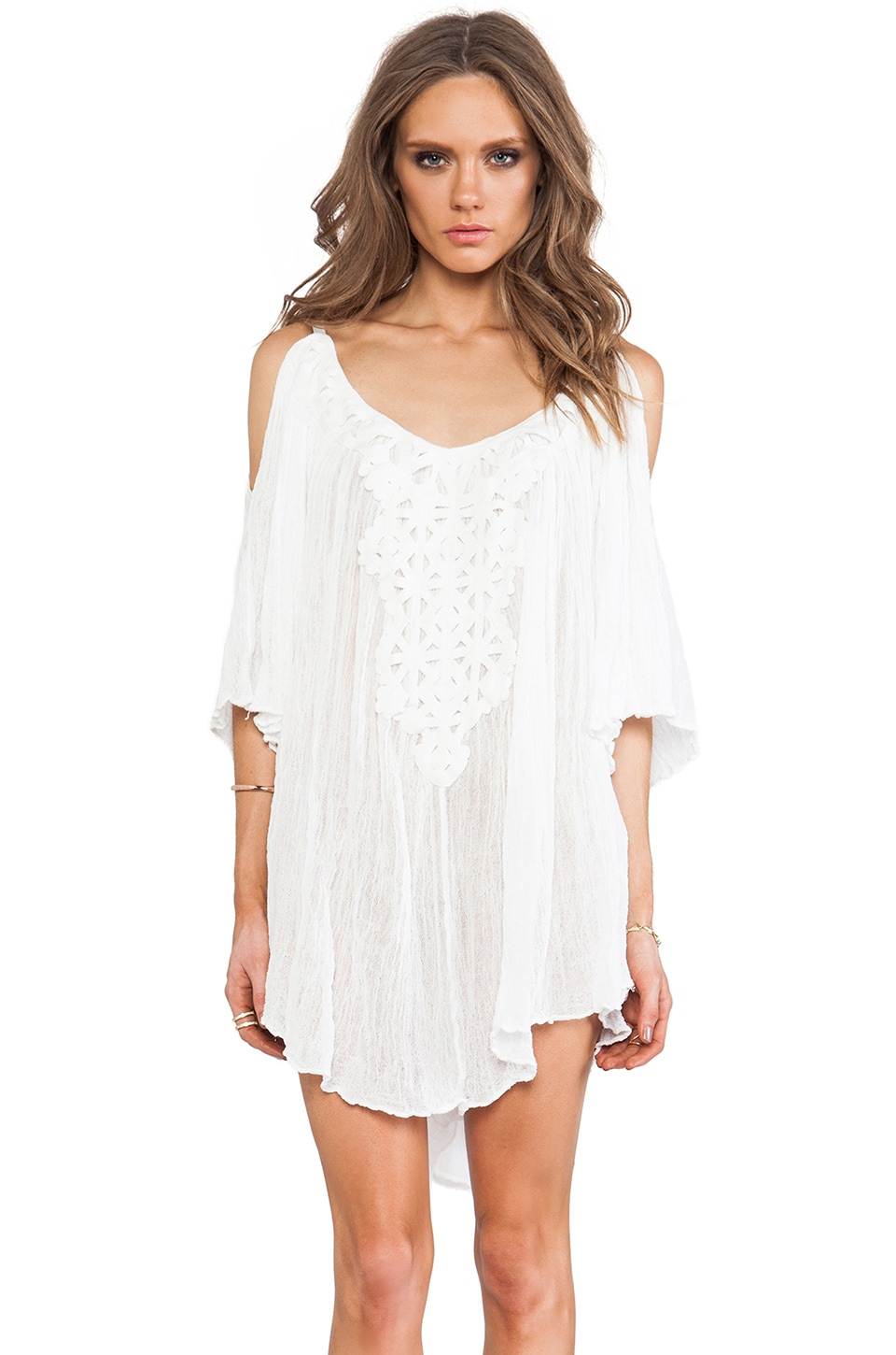 Jen's Pirate Booty Dahlia Tunic in White