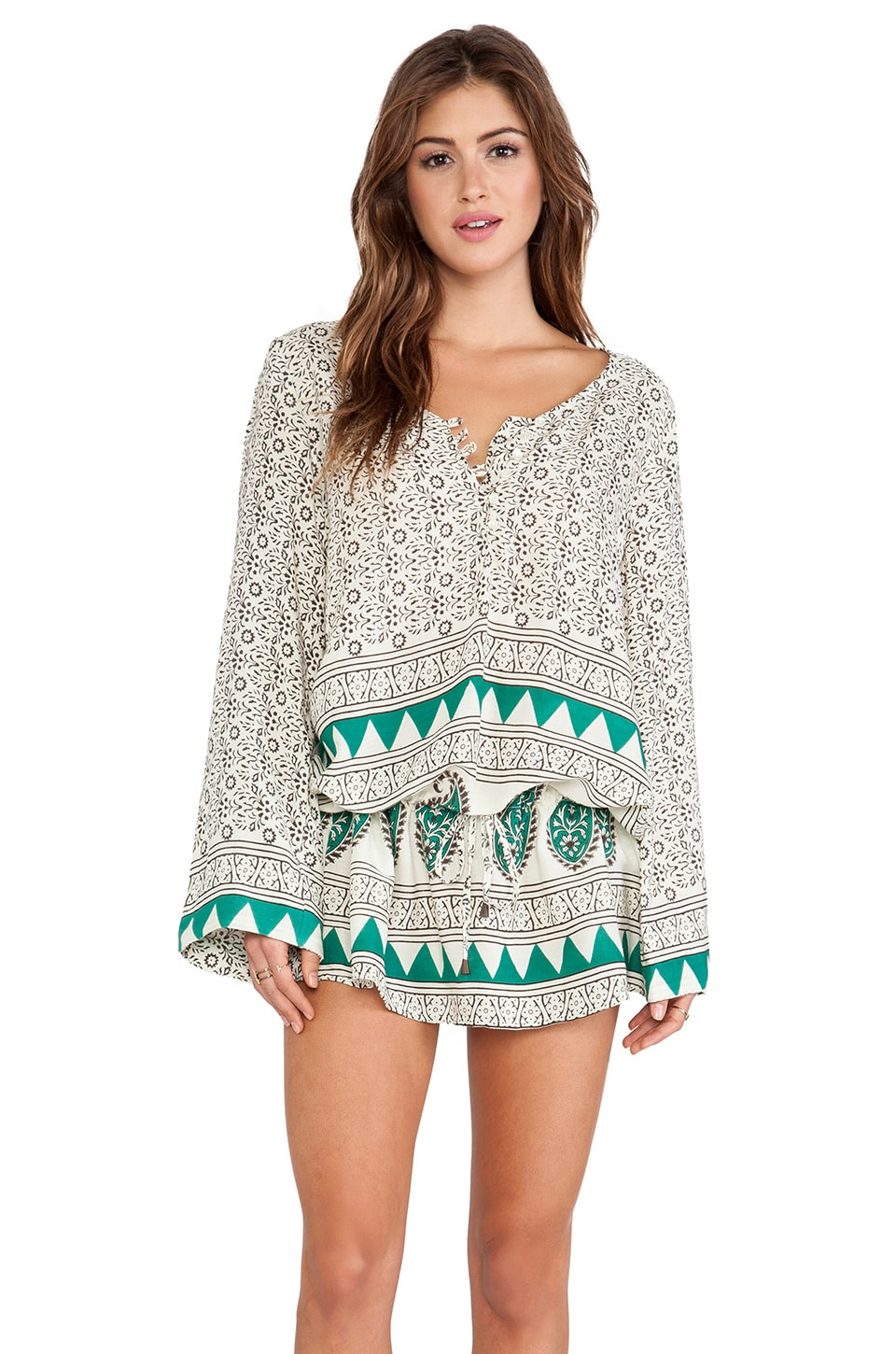 Jen's Pirate Booty Ashram Tunic in Mediterranean