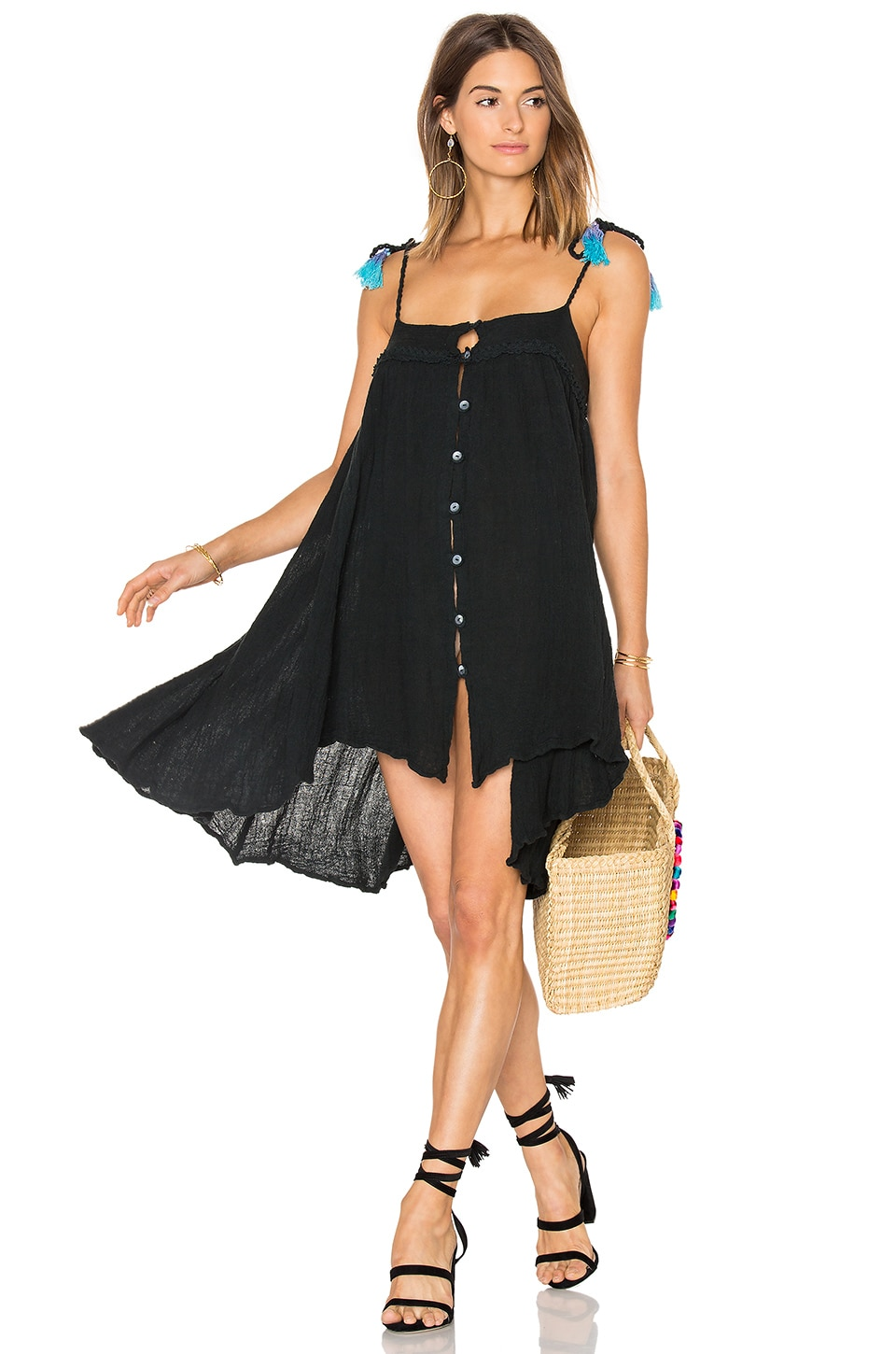 Jen's Pirate Booty Merida Dress in Black & Teal Tassel