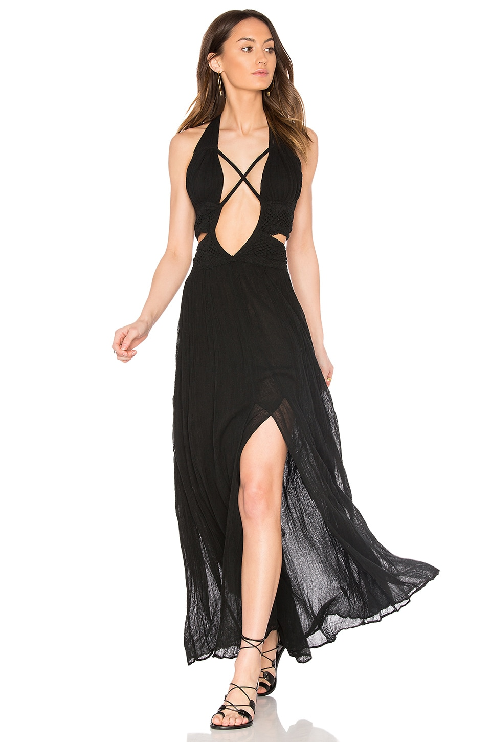 Jen's Pirate Booty Lexington Maxi Dress in Black