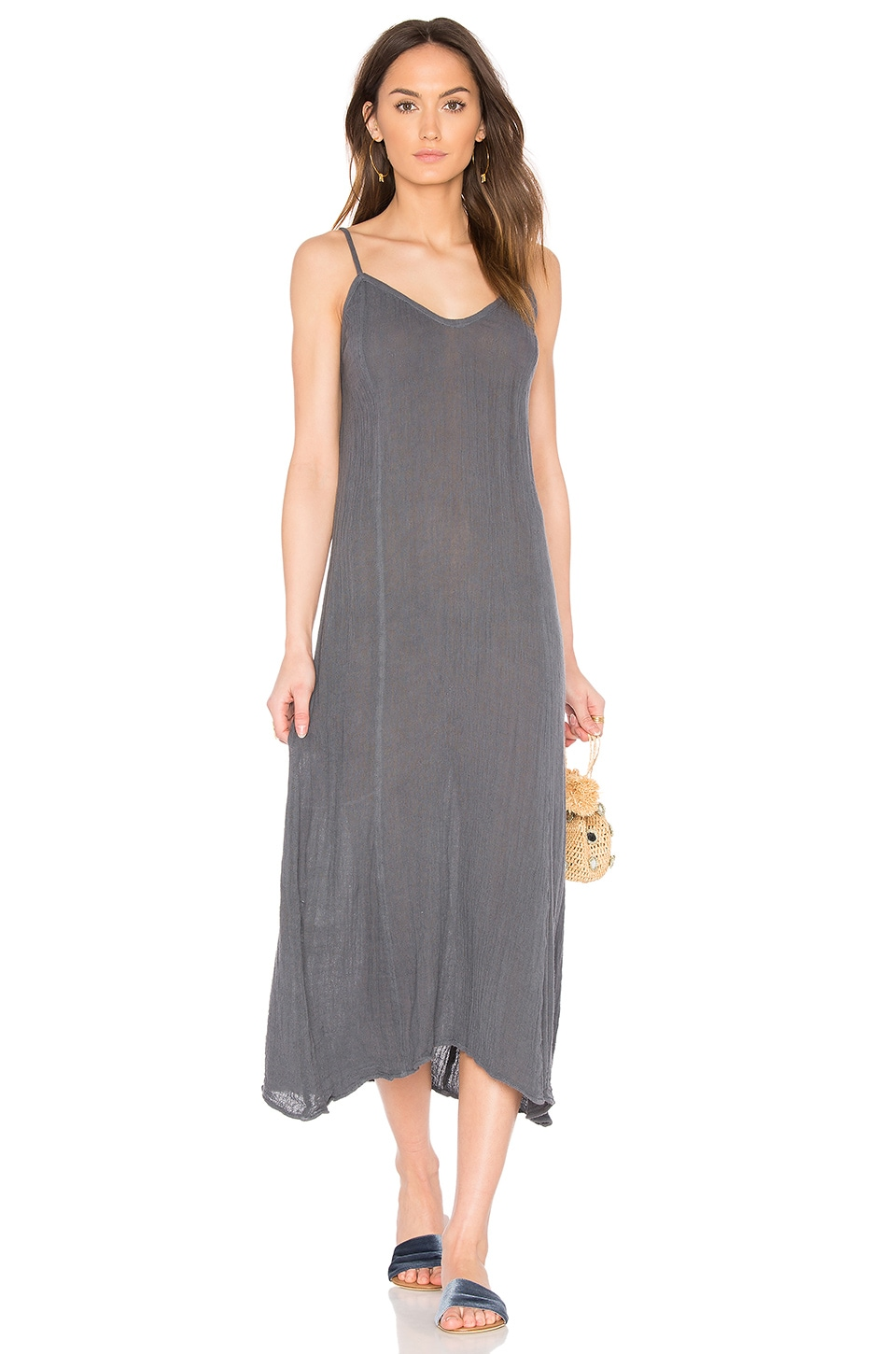 Jen's Pirate Booty Gauze Sanele Slip Dress in Storm