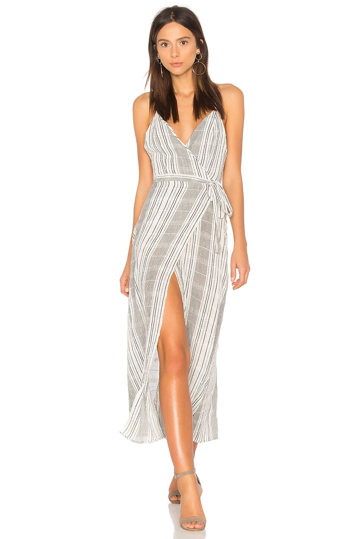 Jen's Pirate Booty Stripe Jana Wrap Dress in White & Black Stripe