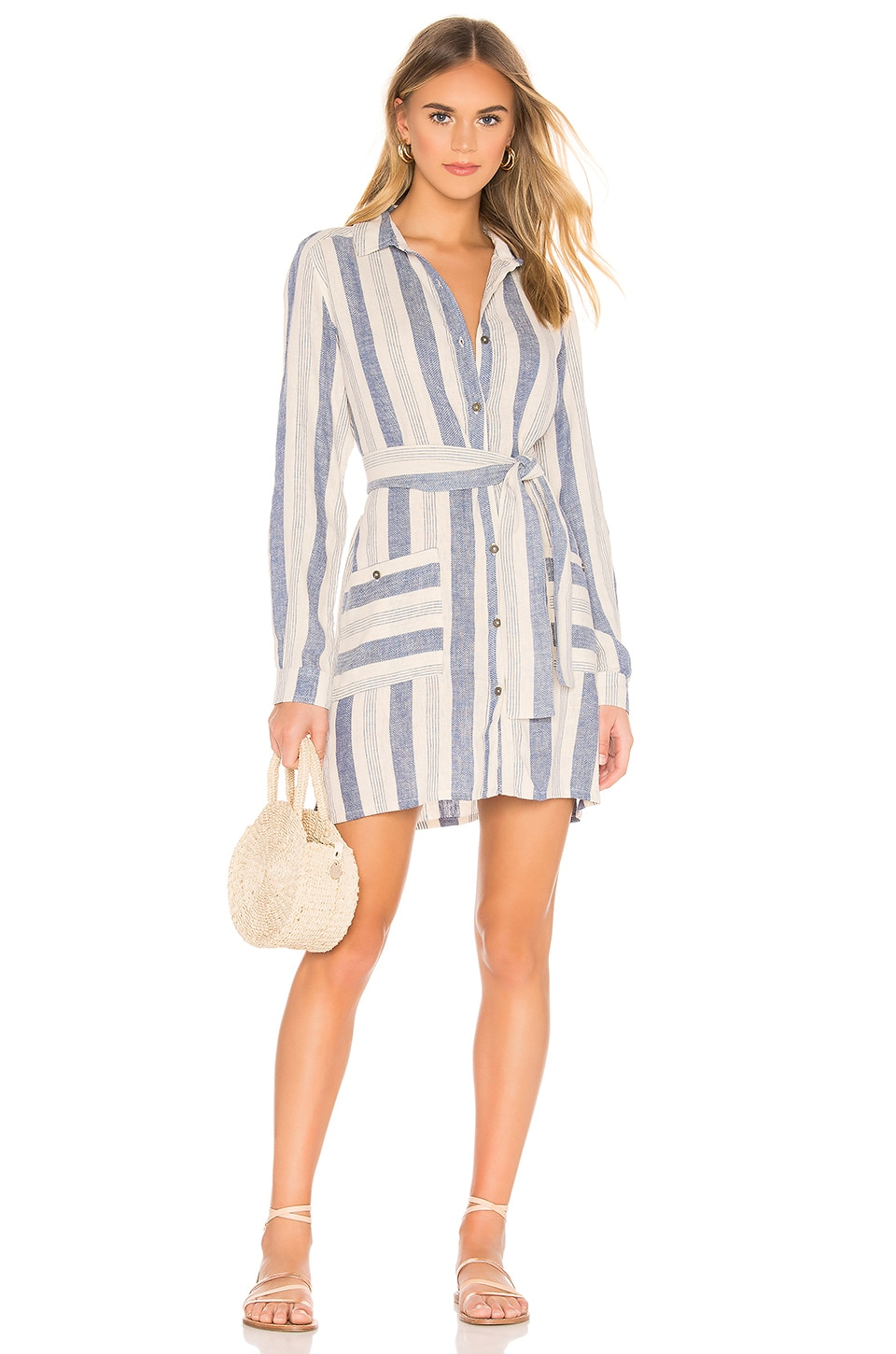 Jen's Pirate Booty Isla Jacket Dress in Nautical Stripe