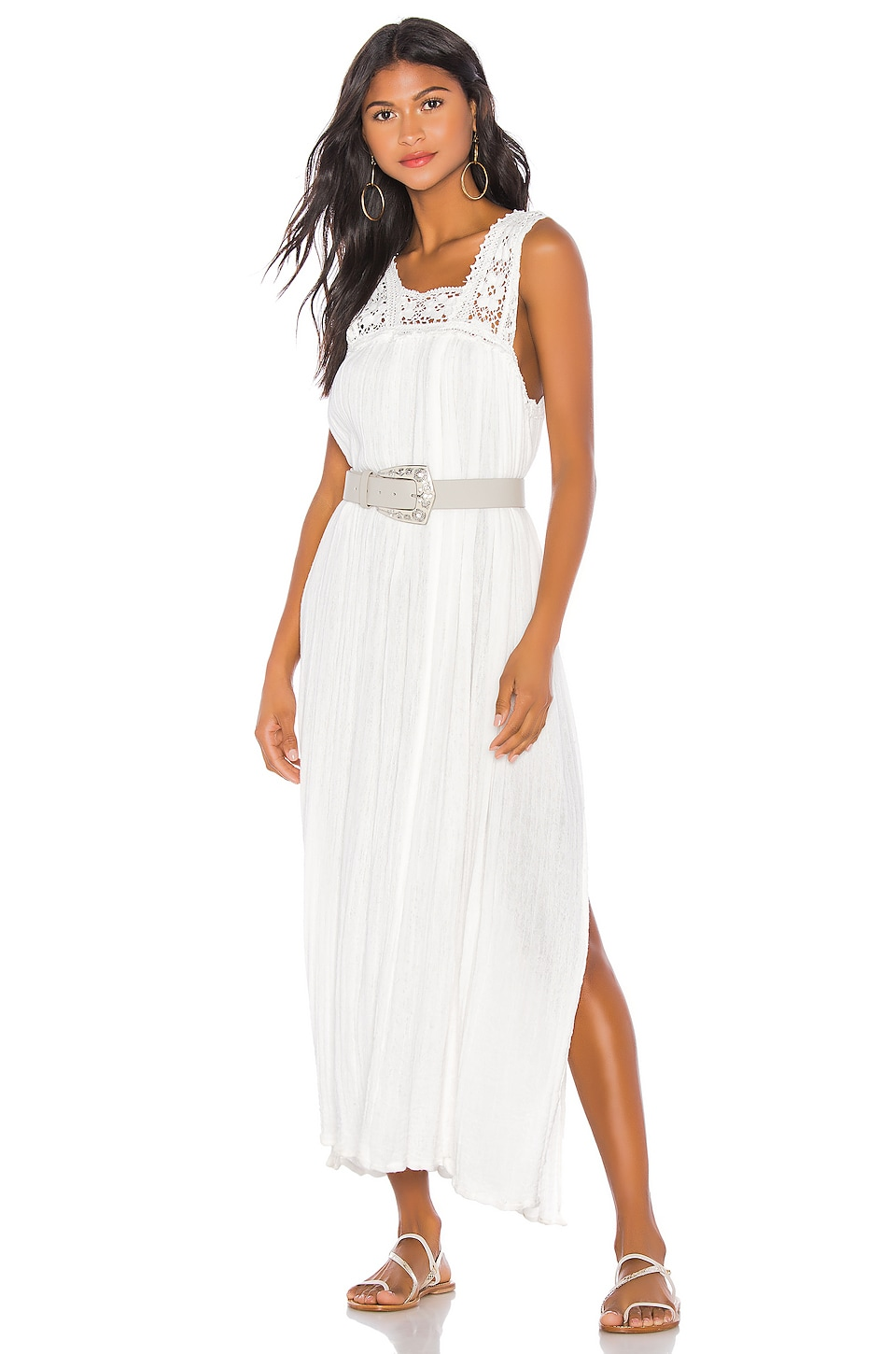 Jen's Pirate Booty Queen Anne Maxi Dress in White